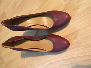 Nine West Red Leather Pumps- Size 10