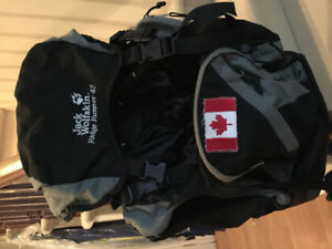 Jack Wolfskin camping backpack