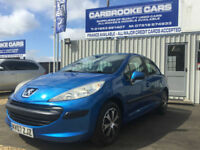 2007 07 PEUGEOT 207 1.4 - 85,000 FSH - 12 MONTHS MOT - SERVICED- WARRANTY