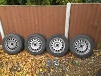 BMW Mini Steel Wheels and Tyres. 175/65HR15 Michelins x4 +centre caps