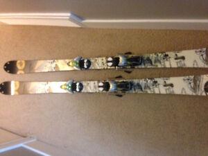 K2 Public Enemy Skis with Solomon Spheric Bindings