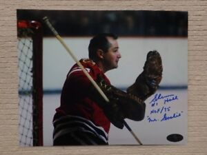 GLENN HALL Chicago Blackhawks Autographed 10x8 Photo W/COA