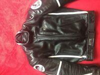 Furygan men's leather motorcycle jacket. Size small.