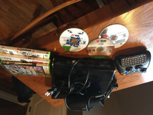 X-Box 360 with games and controller