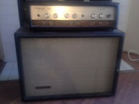 Sears Silvertone 100,Twin Twelve Guitar Amp & piggyback 2x12 Cab