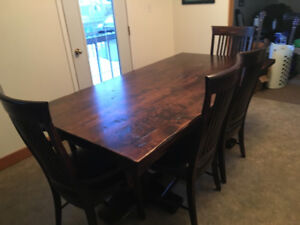 Custom Dining Table and Chairs $5000 OBO