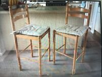 Pair of rustic kitchen stools