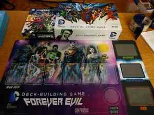 Selling DC deck builder/Crisis expansion/Game Mat.