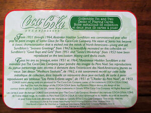 Collectible Tins and 5 sets of playing cards... Coca-Cola Edmonton Edmonton Area image 6