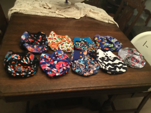 Gently used non-disposable cloth diaper covers