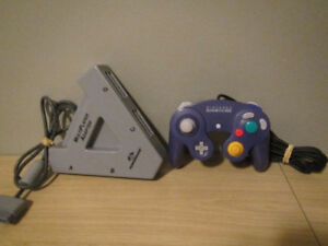 PS1 Multiplayer Adapter and Purple GameCube Controller