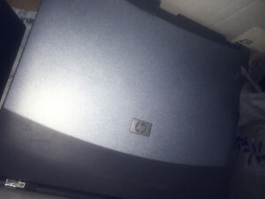 Laptops, power bars, printer and router