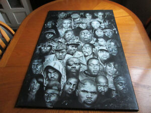 """Various Wooden Backed 36""""x 24"""" Movie & Rap Posters"""