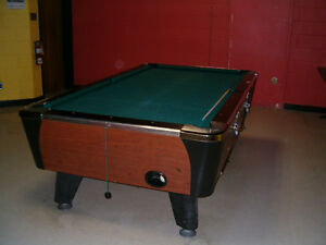 Pool Table   Coin Operated and 4x8 Air Hockey