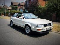 1989 Audi Coupe 2.3 E + ONLY 44K FROM NEW + PEARLESCENT WHITE + F.S.H