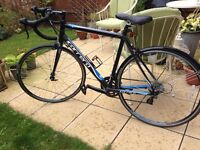 Hardly used road bike with repair kit