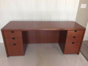 Solid Wood Office Desk/Credenza