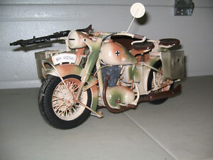 RC 1/6 Scale BMW R75 WWII German Motorcycle with side car