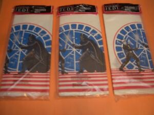 (3) STAR WARS RETURN OF THE JEDI PAPER TABLECOVERS SEALED (1983)