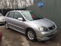 2005 HONDA CIVIC EXECUTIVE 1.6 AUTOMATIC # TOP OF THE RANGE # HEATED LEATHERS # SUNROOF # LOW MILES