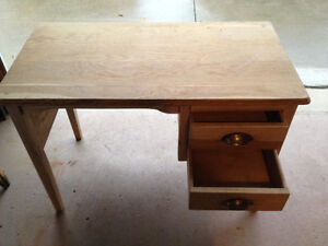 1950's Solid Tiger Oak Writing Desk London Ontario image 4
