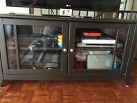TV stand with glass doora