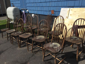 VINTAGE BOW BACK CHAIRS