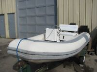 INFLATABLE WITH FIBERGLASS HULL!!