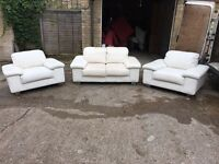 3x leather sofas, Free delivery