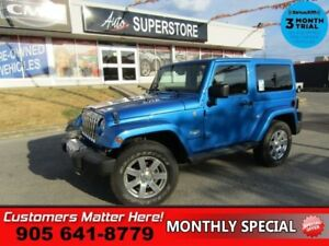 2014 Jeep Wrangler Sahara  4X4, MANUAL 2 TOPS NAVIGATION ALLOYS