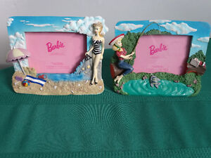 Two vintage Barbie frames (5 inch by 3 1/2 inch picture)