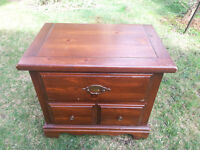 Solid wood bedside table (#412)