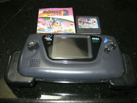 Sega Game Gear Ex condition with 3 games Power cord etc