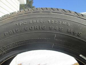 WOW ! 215/60r16 pneus été