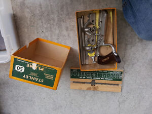 Antique stanley planes and other hand tools