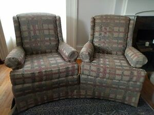 A pair of High Back Chairs