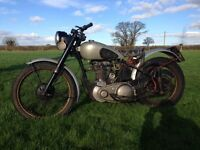 BSA ZB32 1952 350cc. COMPETITION PLUNGER TRIALS