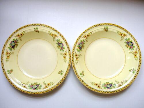 "RARE Stubenville Art Deco Soup Bowl Matched Set of 2 ""Sandra"" Transferware"