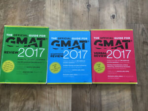 3 GMAT Official Guides - Like New