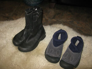 Keen US size 6 boots/booties, EUC - leather &/or suede