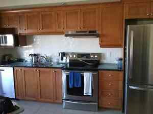 Cabinets cuisine, comptoir granite /  Kitchen cabinet, granite