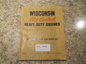Wisconsin VG4D Air Cooled Engine Manual