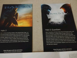 Halo 5 and Halo 3 Game Codes