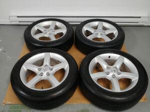 4 pneus d'été 215/55/R17 GENERAL ALTIMAX sur mags NISSAN