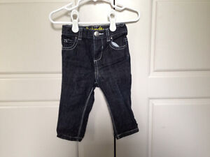 3 pairs of boys pants, size 6-12mos $5