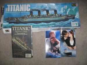 Revell Titanic Model + Titanic Map + Titanic 2 vhs movie-$5 lot