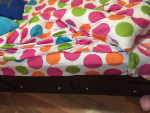 FOR SALE twin size captains bed with three drawers and headboard
