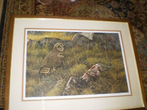 "Robert Bateman Signed Limited Edition Print - ""Short Eared Owl"" Kitchener / Waterloo Kitchener Area image 4"