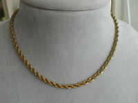 15-INCH GOLDTONE THICK ROPE-STYLE CHAIN NECKLACE...