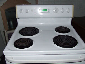 NICE WHITE MOFFAT STOVE  WITH COIL TOP BURNERS